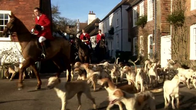 Boxing Day hunt in Kent