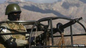 Pakistani troops in tribal regions, file pic