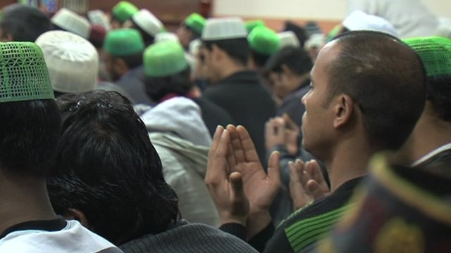 Muslims worshipping in Greece