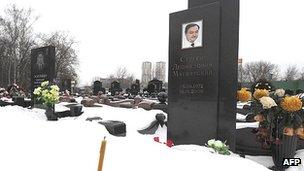 Sergei Magnitsky grave in Moscow, 7 Dec 12