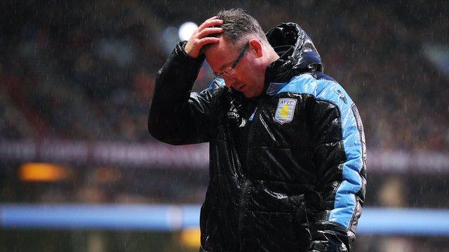 Paul Lambert during Aston Villa's match against Wigan
