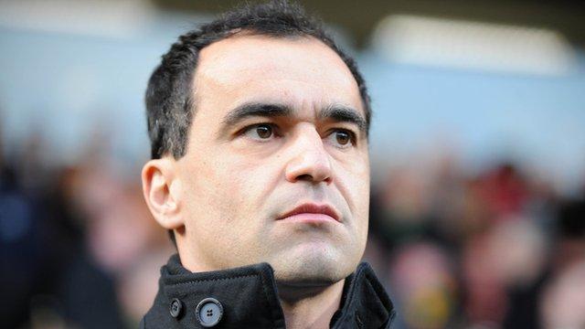 Wigan Manager, Roberto Martinez