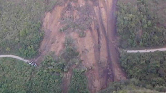 Scene of landslide