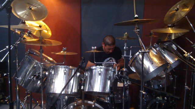 Drummer from heavy metal group The BlackForce
