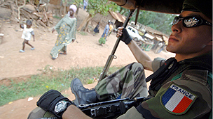 French soldier in Central African Republic
