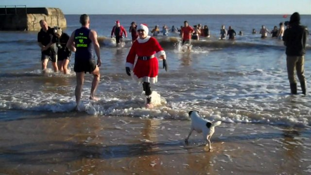 Dippers at Gorleston on New Year's Day