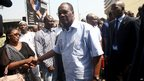 President Alassane Ouattara at the scene of a stampede in Abidjan on 1/1/13