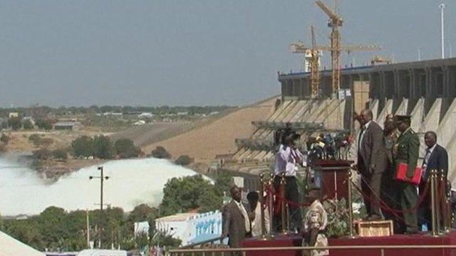 Opening of dam in Sudan