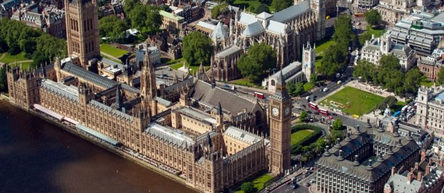 The Houses of Parliament and Westminster Abbey