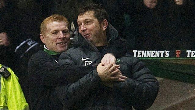 Celtic first team coach Garry Parker (right)