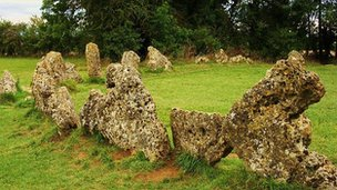 The Rollright Stones, near Chipping Norton in Oxfordshire