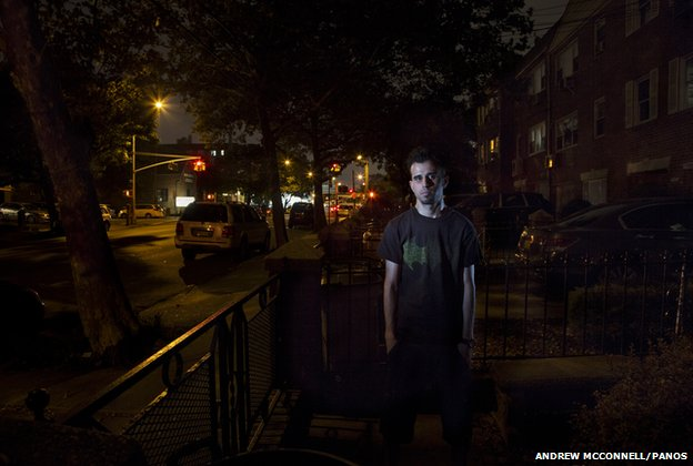 Shafiq, an Afghan refugee pictured in New York, USA.