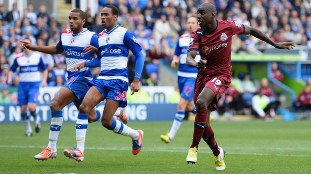 Demba Ba scores against Reading