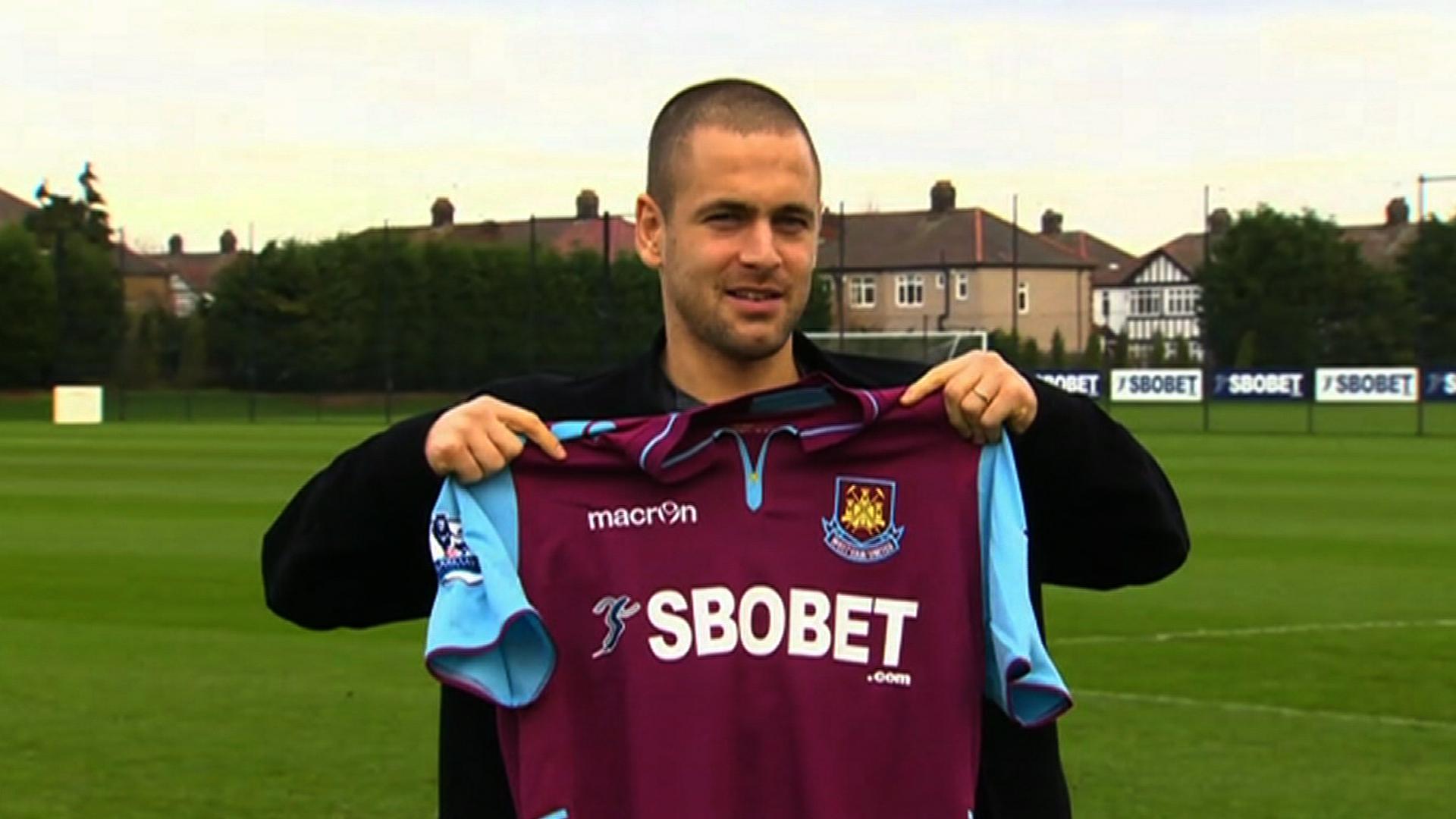 West Ham United's new signing Joe Cole