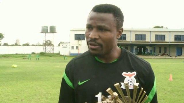 African footballer of the year Christopher Katonga