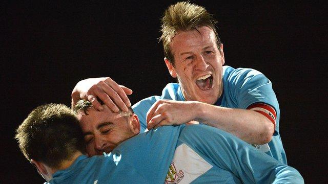 Ballymena beat Ballinamallard 3-0 at the Showgrounds