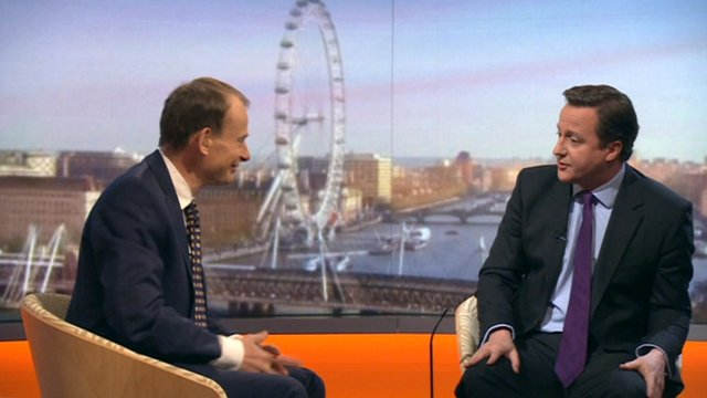 Andrew Marr and David Cameron