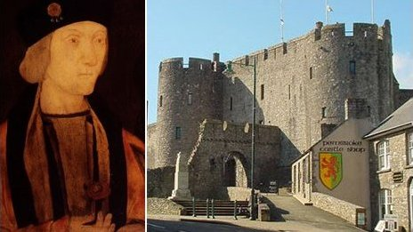 Cafodd Harri'r VII ei eni yng Nghastell Penfro
