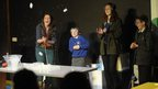"Fran Scott and children take part in ""A Tourist's Guide to the Solar System"""