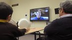 NASA Astronaut Shane Kimbrough in a live link up via Skype