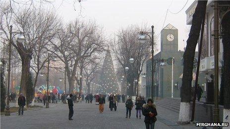 Christmas tree in Tashkent