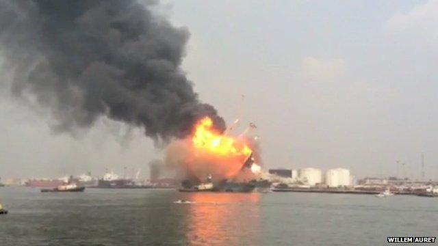 Explosion in Lagos port area