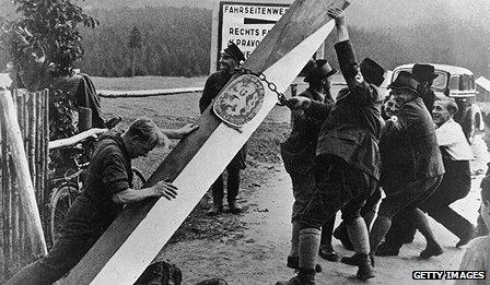 Border markers taken down on Czech-German border