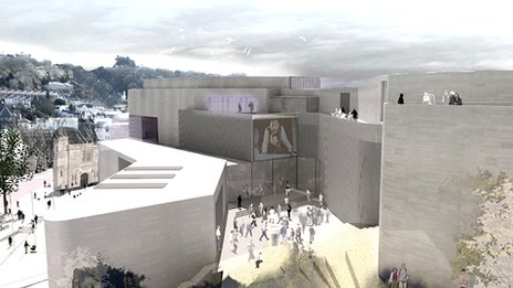 Artist's impression of Pontio arts and innovation centre