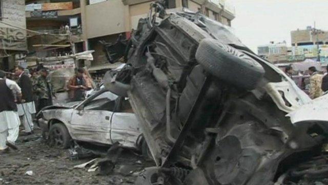 Bomb aftermath in Quetta