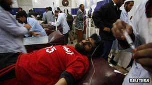 Injured treated in Quetta, 10 January
