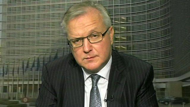 EU economics commissioner Olli Rehn