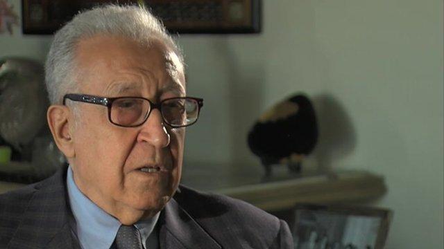 UN envoy to Syria, Lakhdar Brahimi