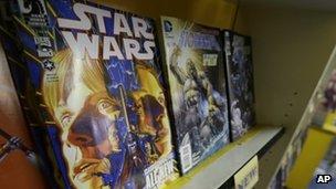 The new Star Wars comic is displayed in Philadelphia. Photo: 9 January 2013
