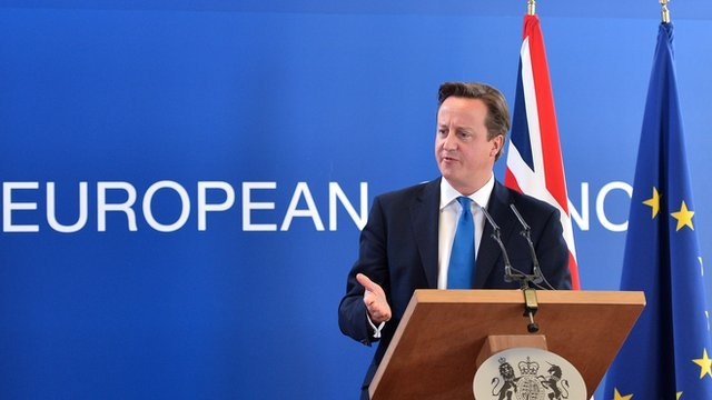 PM David Cameron in Brussels, 19 October 2012