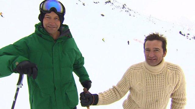 Ski Sunday presenters Ed Leigh (left) and Graham Bell