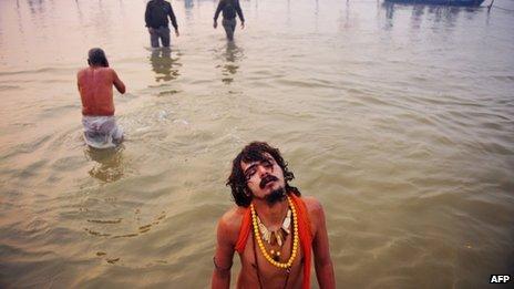 Bathing at the Kumbh Mela