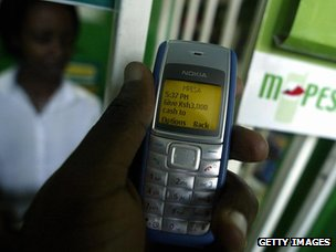 M-PESA on a mobile