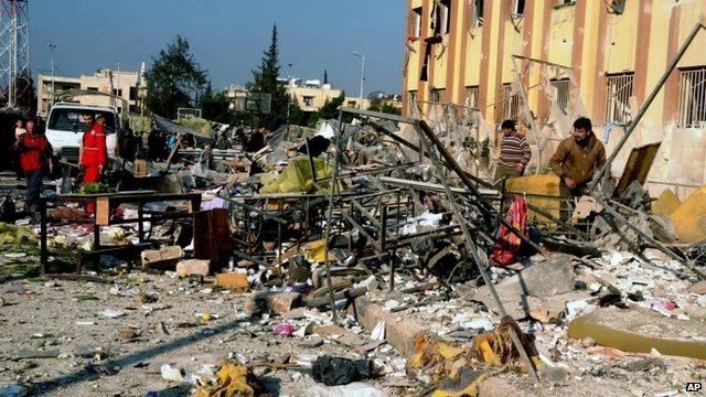 Aleppo blast site