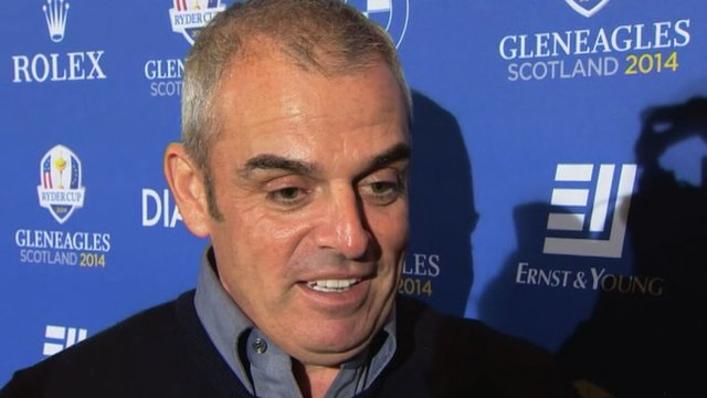Europe's 2014 Ryder Cup captain Paul McGinley