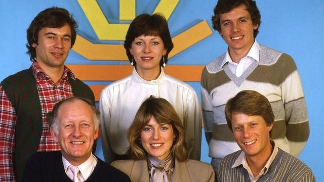 The BBC Breakfast Time line-up in 1983