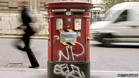Vandalised postbox