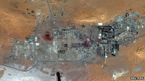 The In Amenas gas field in Algeria in an October 2012 handout image courtesy of DigitalGlobe