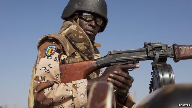 A Malian soldier - 16 January 2013