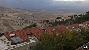 The controversial E1 area in the West Bank which has been earmarked for settlement expansion (as seen from Maale Adumim)