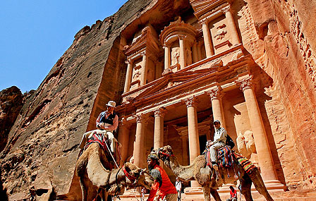 Rock city of Petra in Jordan