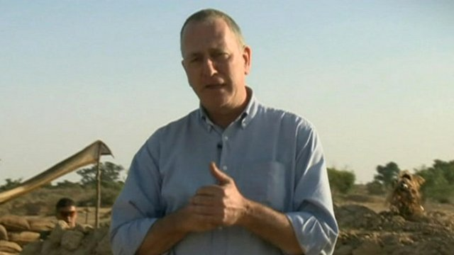 The BBC's Mark Doyle with French troops in Mali