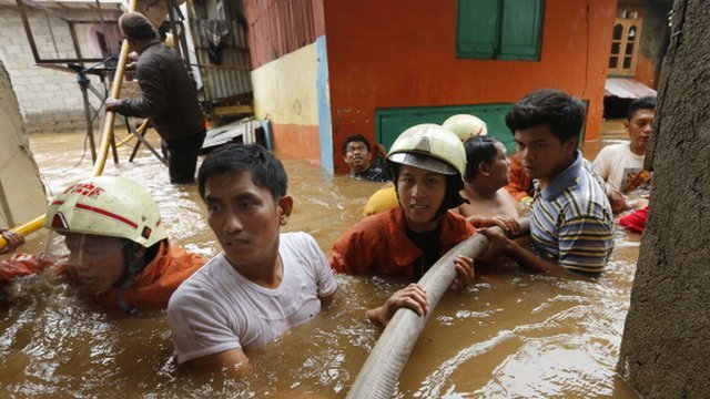 Flooded street in Jakarta