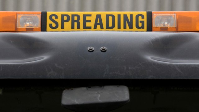 Detail on a gritting lorry