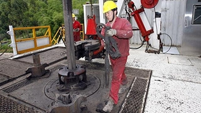 Drilling for gas in China