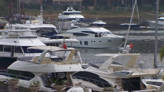 Luxury yachts in China